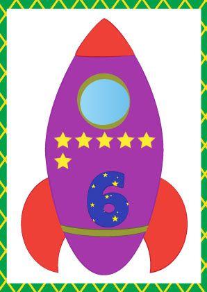 cijferkaarten raket. e kan de cijferkaarten gebruiken om kinderen op een speelse manier rekenvaardigheden te leren. In de raket staat een cijfer en dat aantal sterren. Zo krijgt een kind beeld bij de cijferwereld. Je kan de kaarten ophangen, maar je kan er ook spelletjes mee spelen (eerst lamineren).