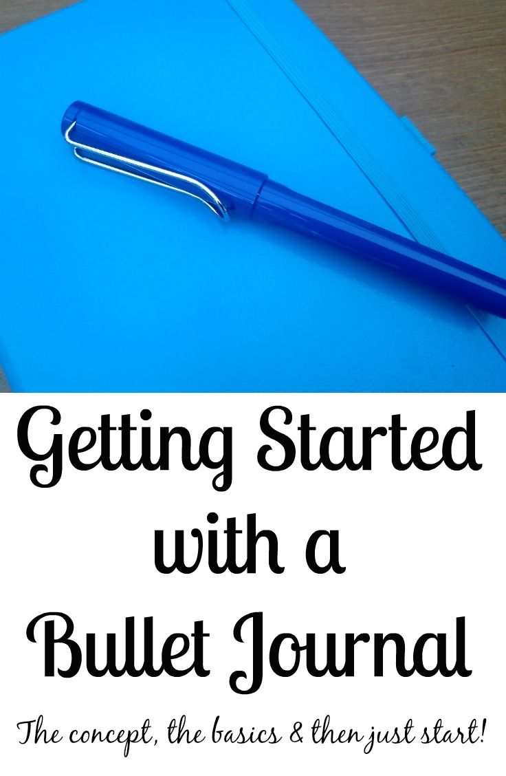 Getting Started With a Bullet Journal