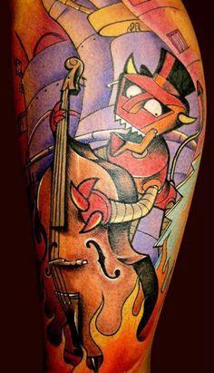 Cartoon Character Tattoos on Pinterest | Cute Animal Tattoos Cartoon ...