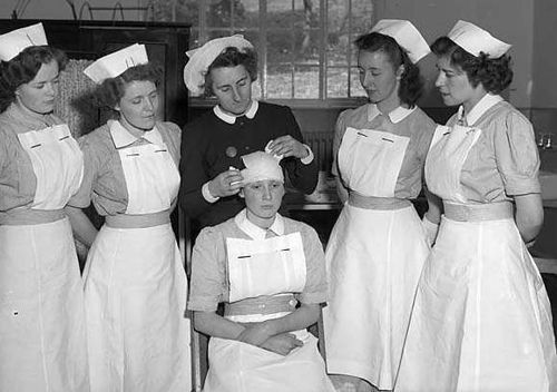 Nurse training, Wales 1955.