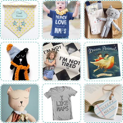 Creative Cravings... Catching some Zees!  Sleepy Toys, Dolls, Cats, Accessories, T-shirts, Naps, Pillowcases