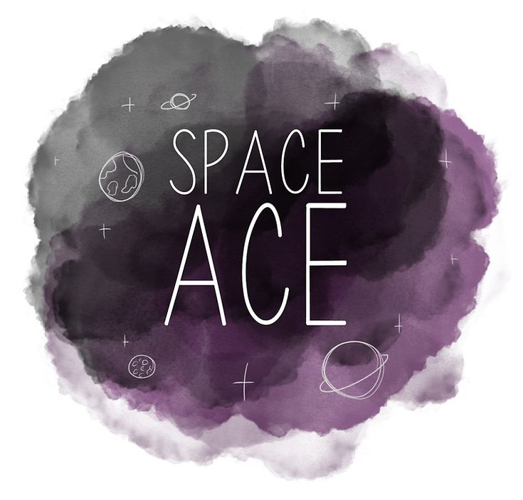 'Space Ace – Asexual Pride' Sticker by Aimeebee
