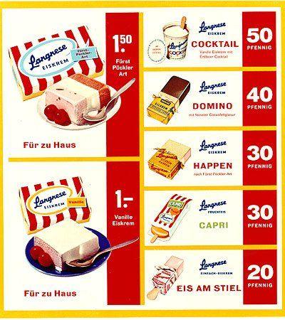 Langnese Werbung 1960