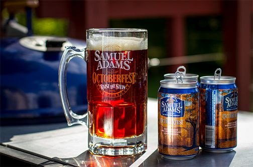Samuel Adams  Octoberfest in a can;  National Beer Can Day,  January 24