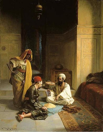 Deutsch, Ludwig (1855-1935) - 1906 The Fortune Teller (Christie's London, 2006)