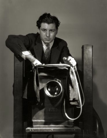 George Hurrell, Self-Portrait    The master of lighting..