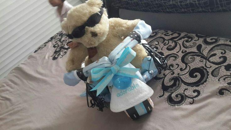 #babybanz #babycycle #teddy #biker #nappycrafts #babygifts #babyboy #cooldude