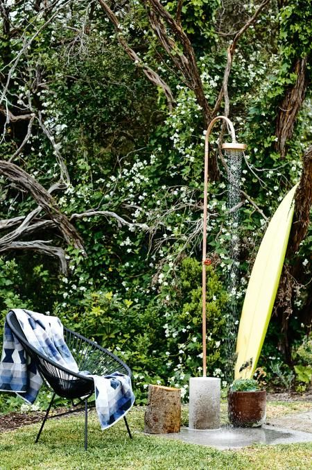 garden outdoor shower surfboard McKimm home oct15