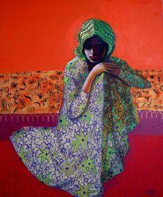 """""""Arabische vrouw"""" / """"Femme Arabe"""" (Arab Woman, c. 1915), by Kees van Dongen"""