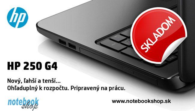 HP 250 G4 - Nové cenovo dostupné notebooky navrhnuté na podnikanie.