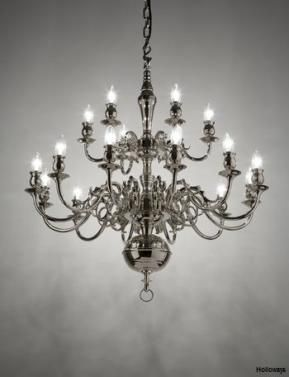 Holloways of Ludlow Amsterdam chandelier (available in polished brass finish)