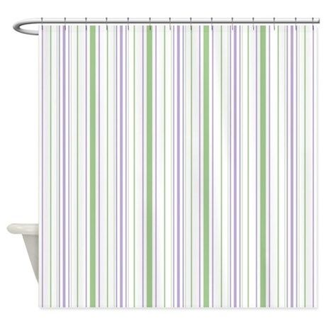 Amara Stripe Lavender Shower Curtain on CafePress.com