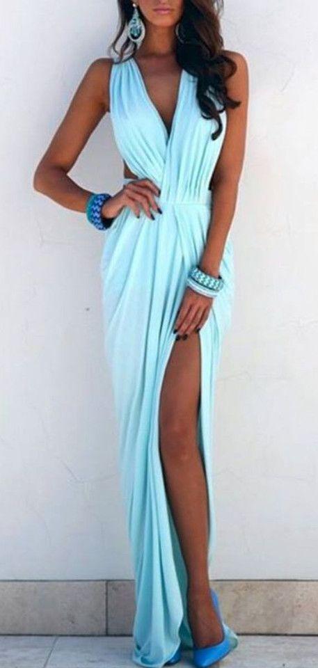 ELDA MAXI DRESS in PASTEL BLUE (Pre-order)