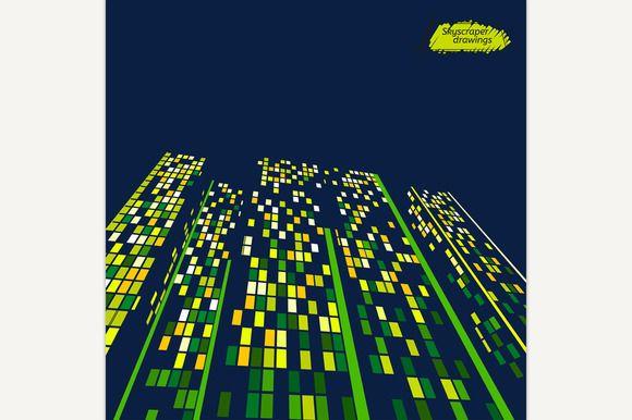 Skyscrapers landscape by Double Brain on @creativemarket