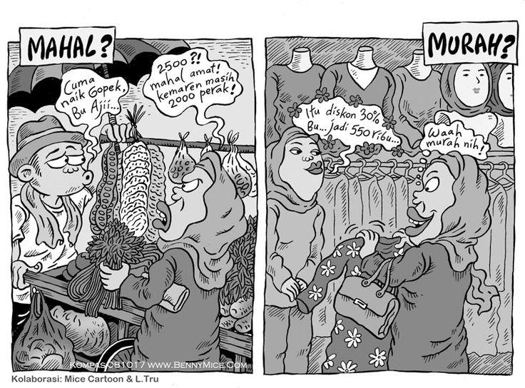 MICE CARTOON - MAHAL vs MURAH - Karya: Muhammad Misrad - Sumber: Kompas Minggu - 08 Oktober 2017 (KLIK gambar untuk memperbesar)
