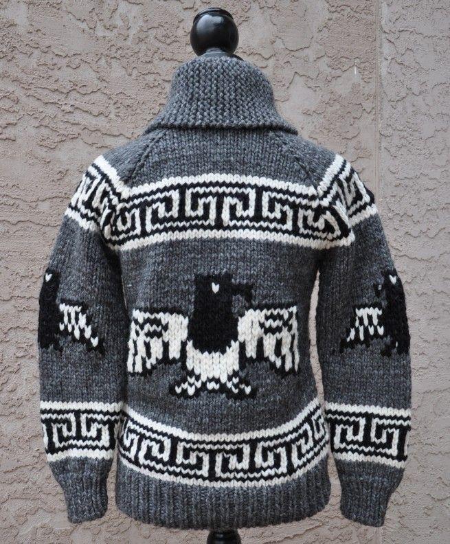 Eagle motif Cowichan Style Sweater