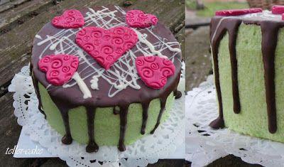 teller-cake: Marcipános tortácska