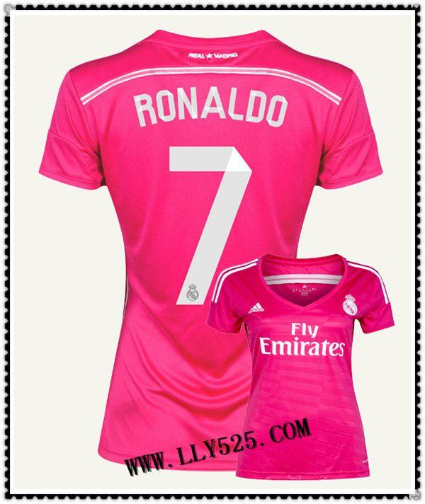Boutique De Boutique Maillot de foot Femme Real Madrid 2014 2015 Exterieur Maillot de foot Femme Pas cher 2014 2015