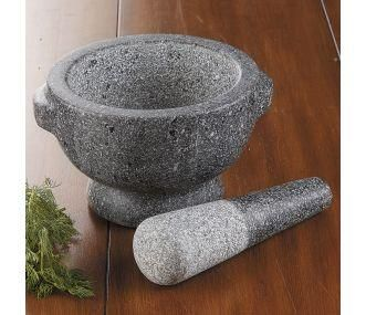 CHEFS Granite Mortar and Pestle  Solid mortar and pestle grinds, crushes and mixes spices, herbs, garlic and more.