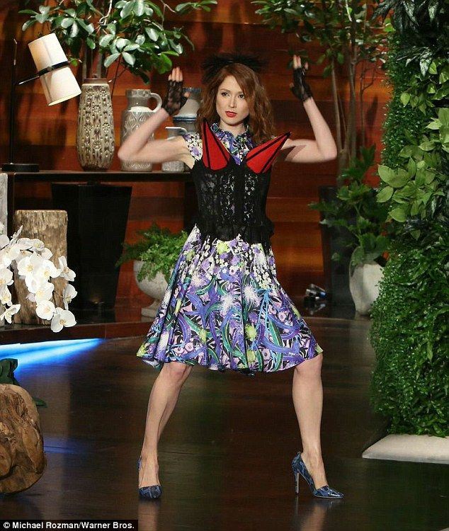 Ellie Kemper dons Madonna's conical bra on The Ellen Degeneres Show Madonna #Madonna