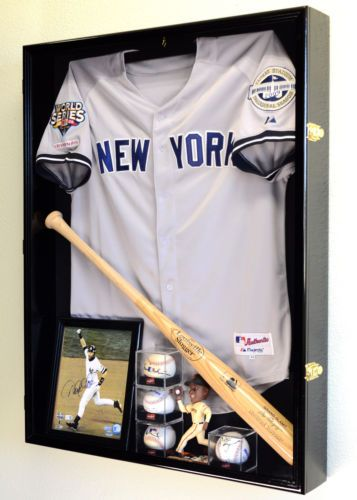 Deep-Sports-Jersey-Shadow-Box-Display-Case-Cabinet-Baseball-Bat-Balls-Trophies