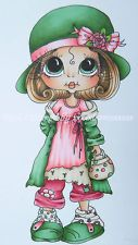 Ooak Card Topper Image, Sherri Baldy Cute As Saturated Canary Hand Coloured