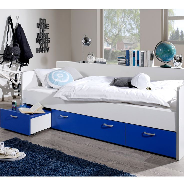 Kidz Beds - Finn Single Bed with Storage and Pullout Bedside Table