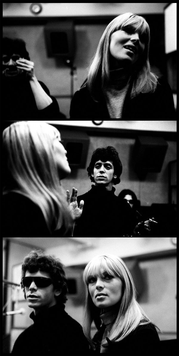 Nico and Lou Reed at Scepter Studios recording the first Velvet Underground album, NYC, 1966.