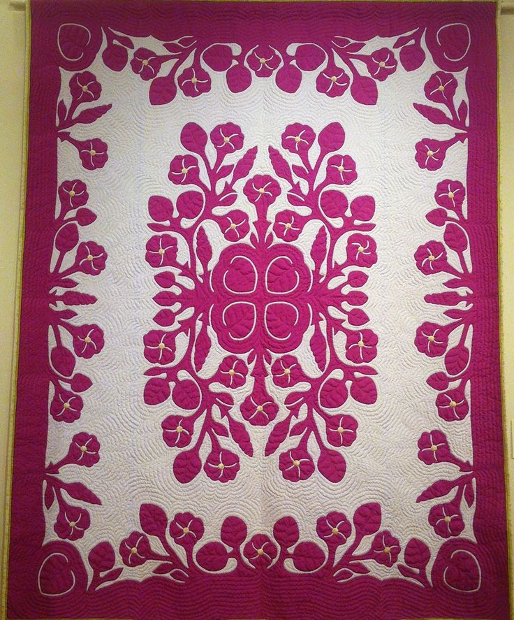 Morning Glories for Rachael by  Patricia Lei Murray. 2014 Hawaii Quilt Guild…
