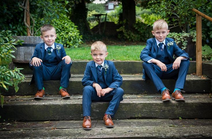 Boys Sons Page Navy Suits Colourful DIY Village Fete Wedding http://jamesgristphotography.co.uk/blog/