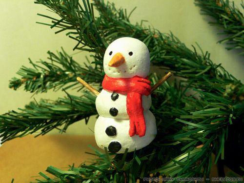 Πάμε να φτιάξουμε όμορφους χειροποίητους χιονάνθρωπους για να στολίσουμε το χριστουγεννιάτικο δέντρο μας