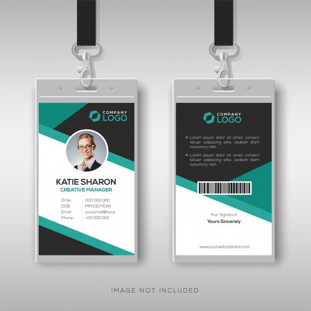 Professional Id Card Template Id Card Template Free Printable Business Cards Identity Card Design