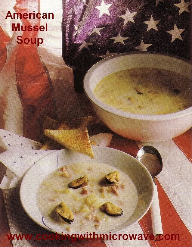 American Mussel Soup,  a perfect dish to serve when you want to impress your friends and family. The soup is full of flavor and rich in vitamin B12. Fits perfectly as a delicious appetizer, or as a full meal served with toast.