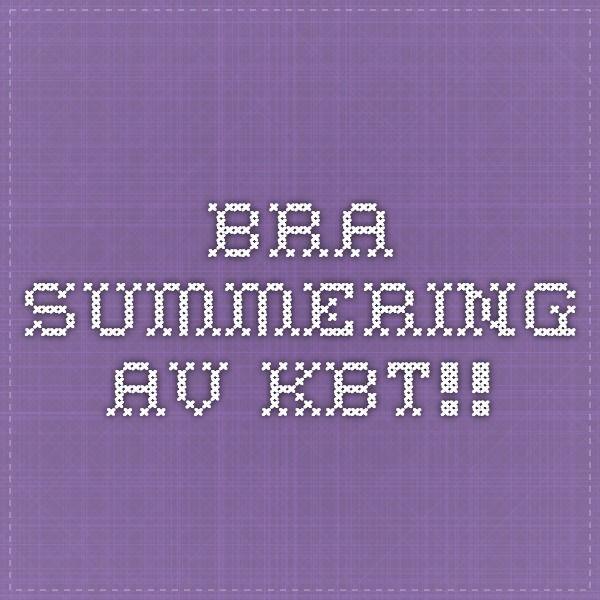 Bra summering av KBT!!