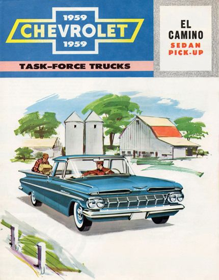 Chevrolet El Camino Sedan Pick Up 1959 - Mad Men Art: The 1891-1970 Vintage Advertisement Art Collection