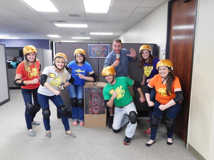 creative halloween costume for the office legends of the hidden temple contestants and host - Best Halloween Costumes For The Office