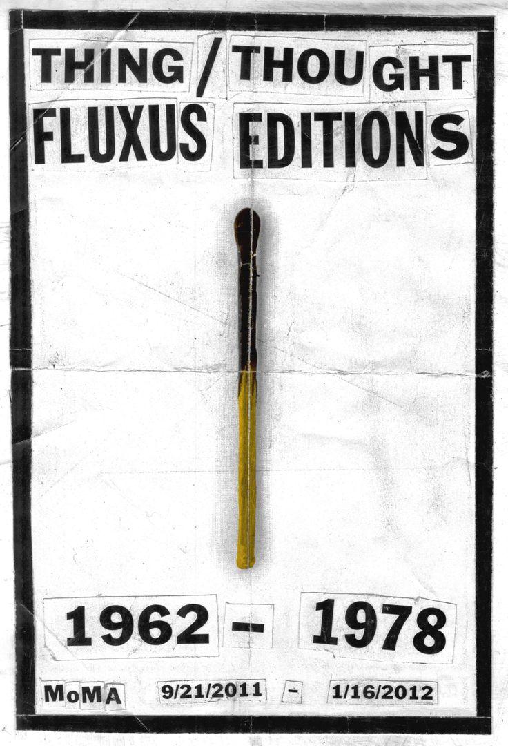Fluxus Editions Poster / Museum of Modern Art / MoMA / Tyler Comrie #Fluxus #Poster #MoMA