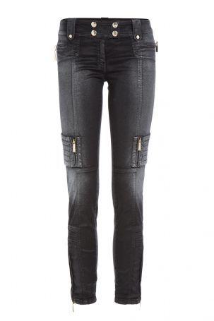 Just Cavalli Just Cavalli Biker-Jeans aus Baumwoll-Stretch – Schwarz