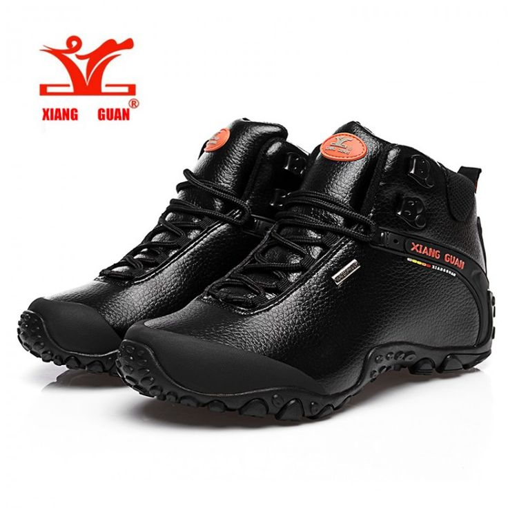 2016 XIANGGUAN Man Hiking shoes outdoor sneaker climbing High Leather mountain sport trekking tourism boots botas waterproofBoots