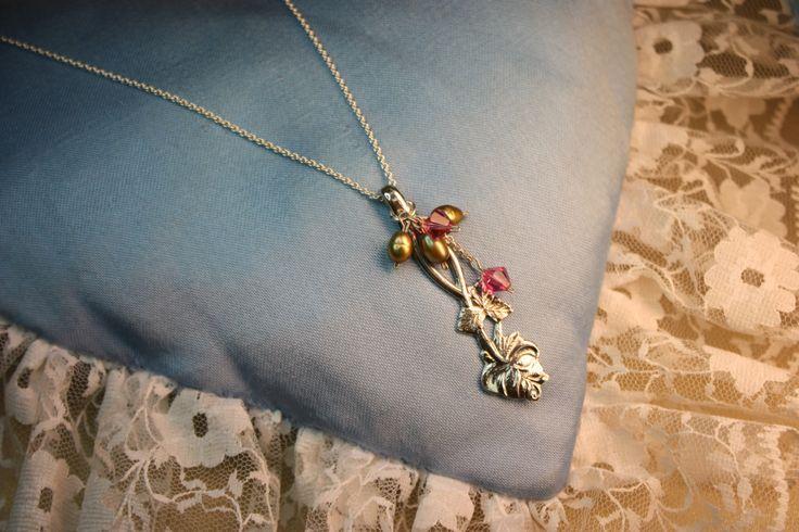 Pendant, made of old silverspoon. Handmade by Goldsmith Sanna Hytönen, Suolahti. Suolahti. https://www.facebook.com/kultaseppasannahytonen?ref=bookmarks