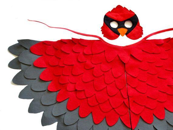 Los niños rojo cardenal traje niños Navidad pájaro por BHBKidstyle