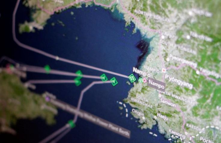 A fleet of North Korean cargo ships is heading home to the port of Nampo, the majority of it fully laden, after China ordered its trading companies to return coal from the isolated country, shipping data shows.