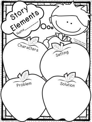 FREE Story Elements Graphic Organizer (apples, ELA