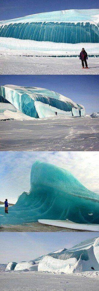 olas heladas en la Antártida