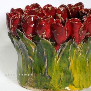 wazon ceramiczny/ ceramika dekoracyjna/ dekoracja wnętrza Arek Szwed