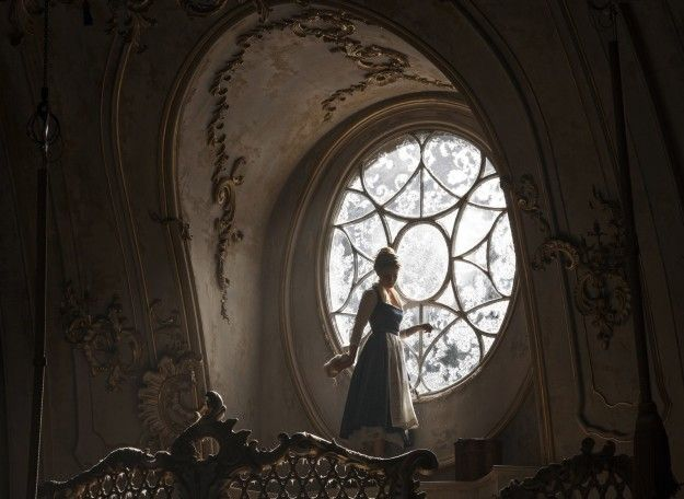 """The dress was designed with easy, active moment in mind — Watson isn't wearing a corset underneath. """"In Emma's reinterpretation,"""" Durran said, """"Belle is an active princess. She did not want a dress that was corseted or that would impede her in any way."""" 