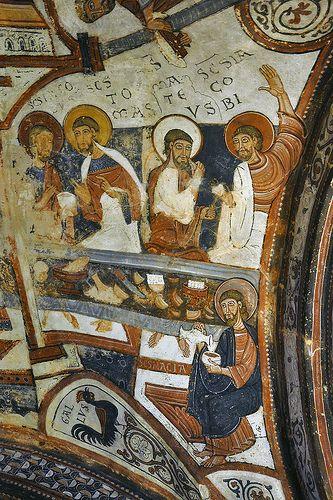 Panteon de los Reyes de Leon, San Isidoro romanesque  murals, Leon, Spain