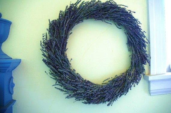 Dried Lavender Wreath Perfect for Weddings by paulajeansgarden