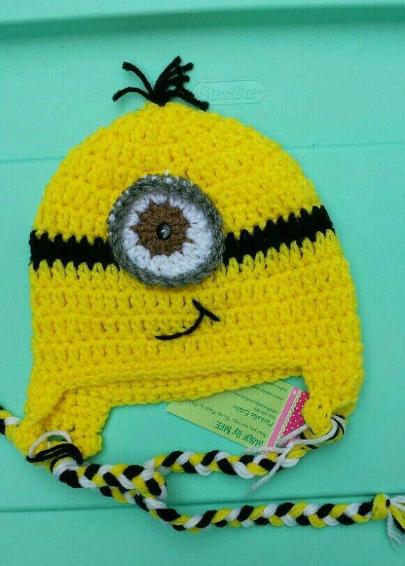 3-6 months Minion hat ready to ship   baby photo by MadebyMEEshop