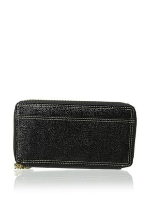 55% OFF Tusk Women's Double Zip Clutch Wallet, Black